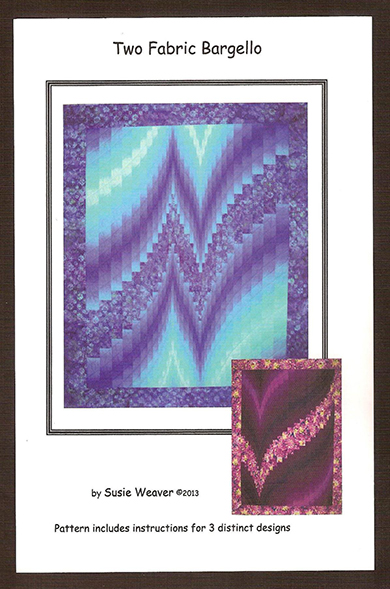 Two Fabric Bargello Pattern Cover
